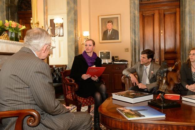 Senator-Harry-Reid-Nevada-Athlete-Hannah-Lobbying-Shriver