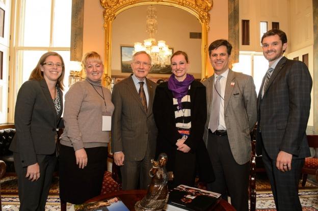 Senator-Harry-Reid-Nevada-Group-Shriver-Washington
